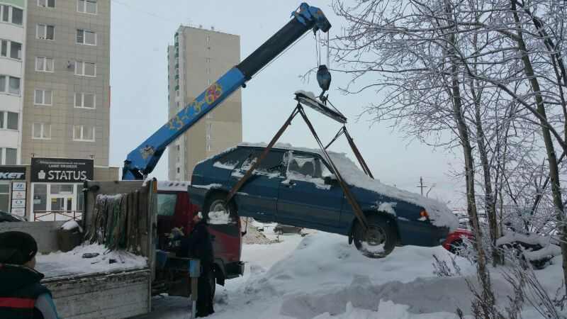 Срочная эвакуация автомобиля.